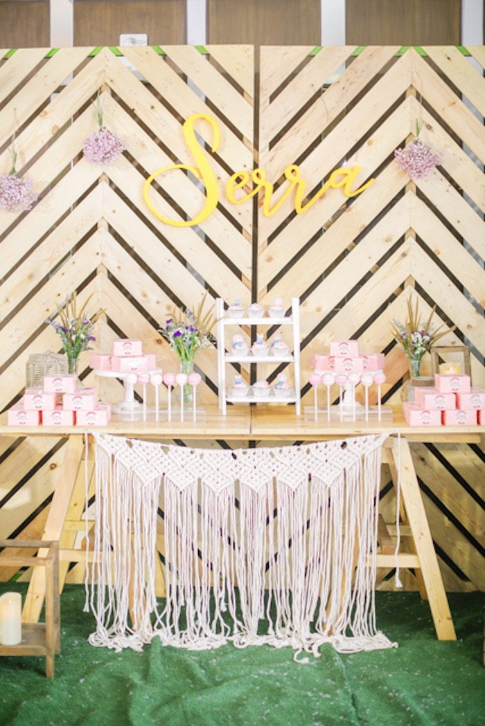 Boho Themed Dessert Table from a Boho Birthday Party on Kara's Party Ideas | KarasPartyIdeas.com (34)