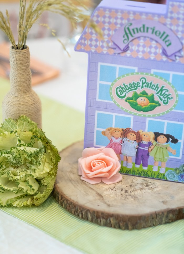 Cabbage Patch Kids-inspired House Decoration + Centerpiece from a Cabbage Patch Doll Birthday Party on Kara's Party Ideas | KarasPartyIdeas.com (21)