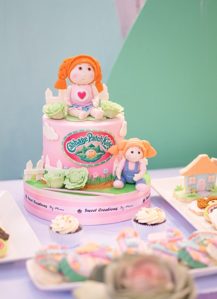 Cabbage Patch Kids-inspired Cake from a Cabbage Patch Doll Birthday Party on Kara's Party Ideas | KarasPartyIdeas.com (20)
