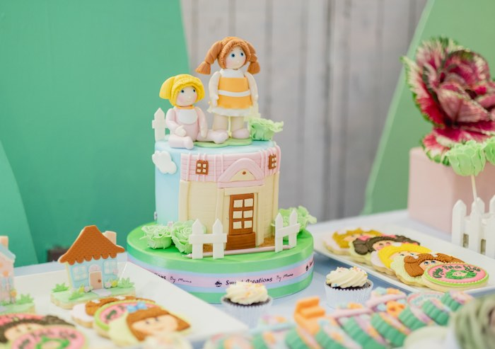 Cabbage Patch Doll/Kids-inspired Cake from a Cabbage Patch Doll Birthday Party on Kara's Party Ideas | KarasPartyIdeas.com (19)