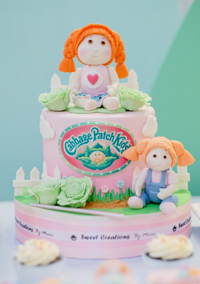 Cabbage Patch Doll Cake from a Cabbage Patch Doll Birthday Party on Kara's Party Ideas | KarasPartyIdeas.com (18)