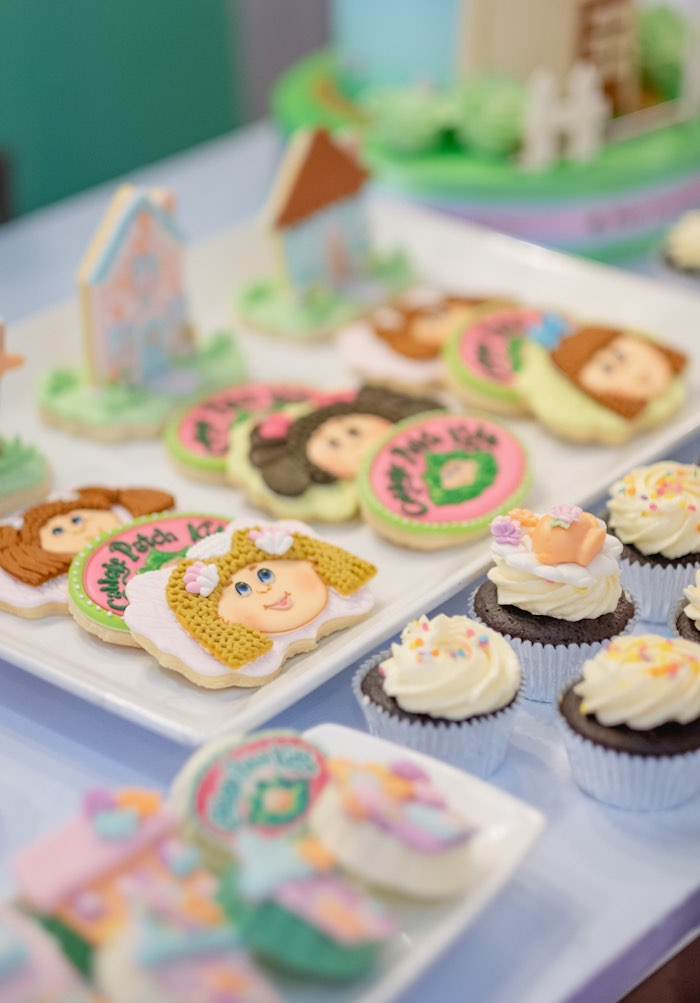 Cabbage Patch Doll Cookies from a Cabbage Patch Doll Birthday Party on Kara's Party Ideas | KarasPartyIdeas.com (17)