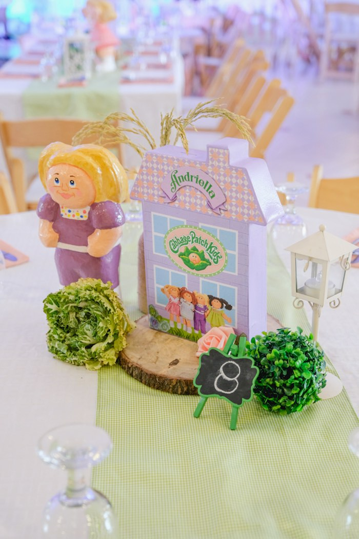 Cabbage Patch Kids Themed Table Centerpiece from a Cabbage Patch Doll Birthday Party on Kara's Party Ideas | KarasPartyIdeas.com (35)