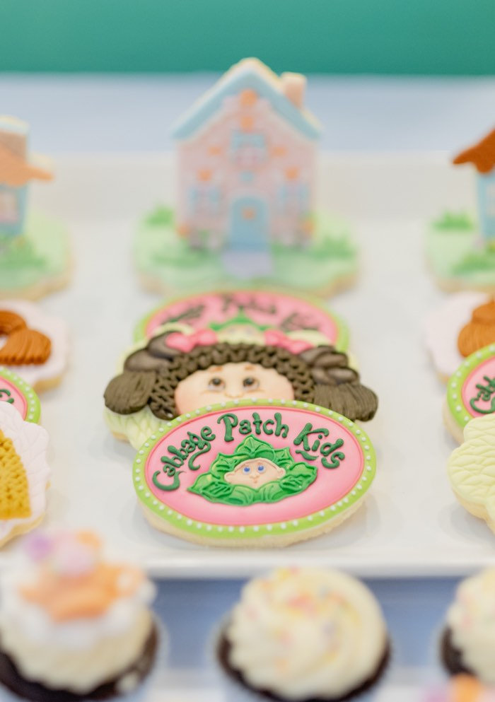 Cabbage Patch Doll Cookie from a Cabbage Patch Doll Birthday Party on Kara's Party Ideas | KarasPartyIdeas.com (16)