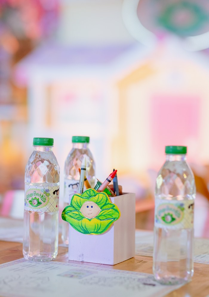 Cabbage Patch Crayon Box + Water Bottles from a Cabbage Patch Doll Birthday Party on Kara's Party Ideas | KarasPartyIdeas.com (13)