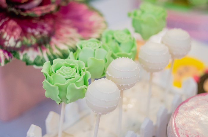 Cabbage Cake Pops from a Cabbage Patch Doll Birthday Party on Kara's Party Ideas | KarasPartyIdeas.com (11)