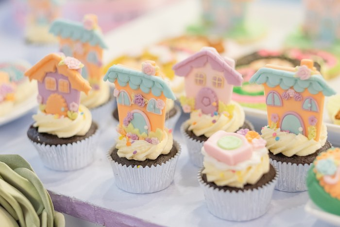 Cabbage Patch Doll-inspired Cupcakes from a Cabbage Patch Doll Birthday Party on Kara's Party Ideas | KarasPartyIdeas.com (10)