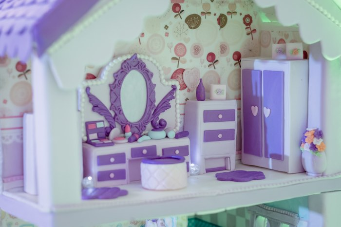 Doll House Cake Detail from a Cabbage Patch Doll Birthday Party on Kara's Party Ideas | KarasPartyIdeas.com (9)
