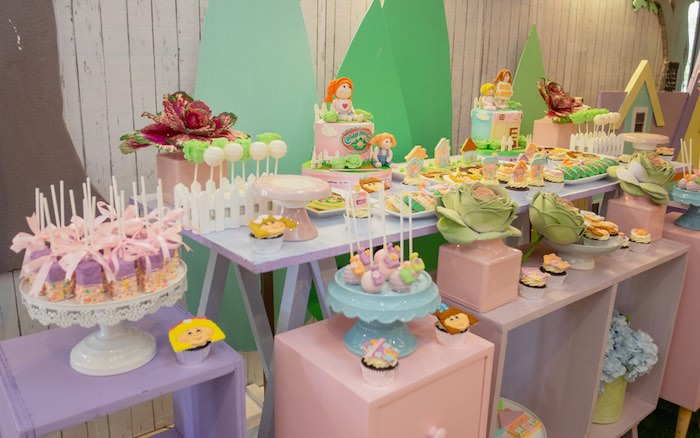 Cabbage Patch Themed Dessert Table from a Cabbage Patch Doll Birthday Party on Kara's Party Ideas | KarasPartyIdeas.com (7)
