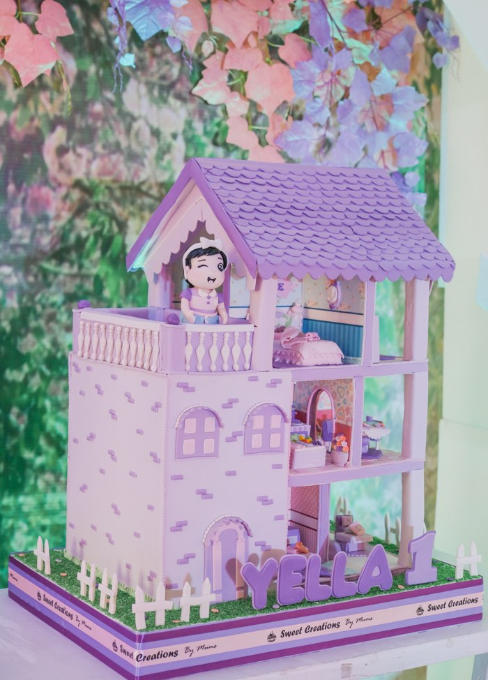 Doll House Cake from a Cabbage Patch Doll Birthday Party on Kara's Party Ideas | KarasPartyIdeas.com (29)