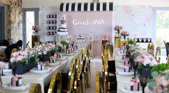 Chanel Inspired Sweet 15 Birthday Party on Kara's Party Ideas | KarasPartyIdeas.com (8)