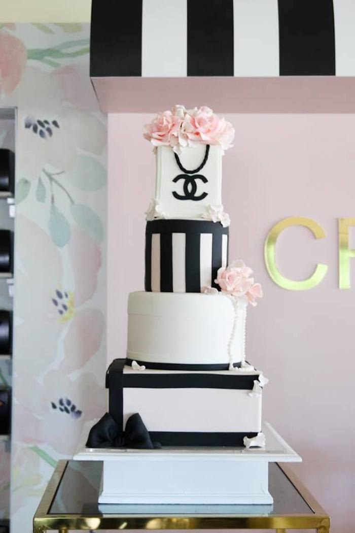 Excellent Karas Party Ideas Chanel Inspired Sweet 15 Birthday Party Personalised Birthday Cards Paralily Jamesorg