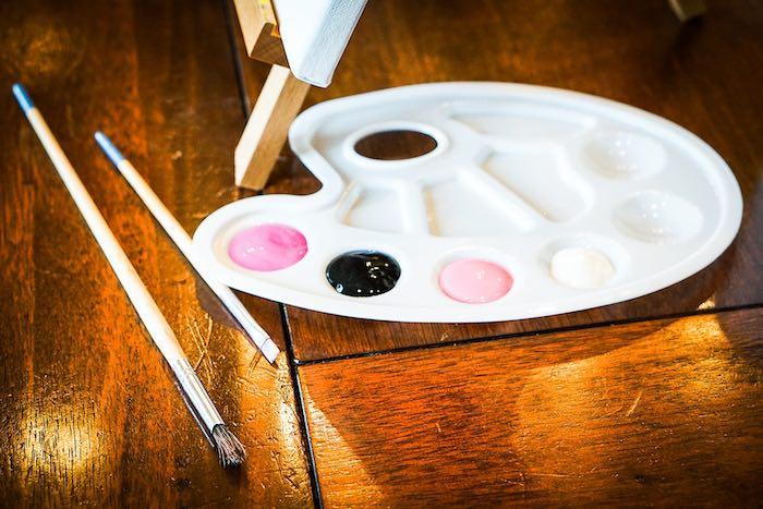 Paint Palette from a Chic Paris Party on Kara's Party Ideas | KarasPartyIdeas.com (13)