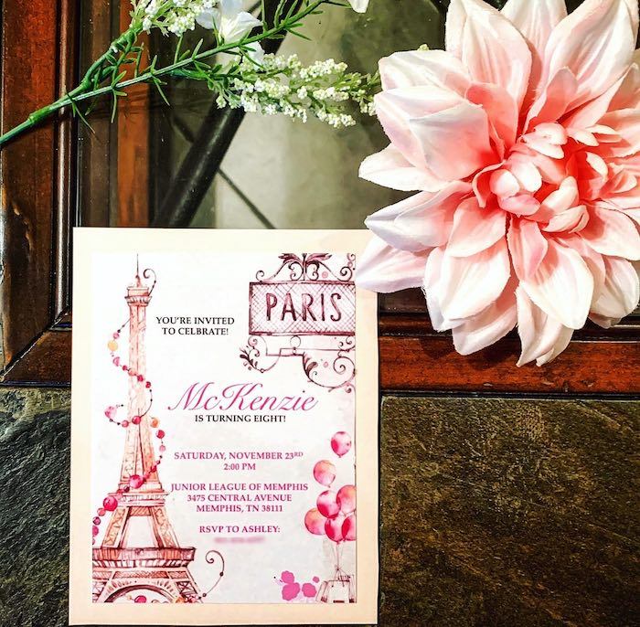 Parisian Party Invite from a Chic Paris Party on Kara's Party Ideas | KarasPartyIdeas.com (8)