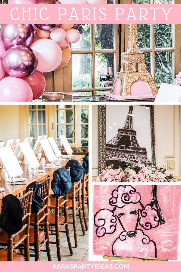 Chic Paris Party via Kara's Party Ideas - KarasPartyIdeas.com