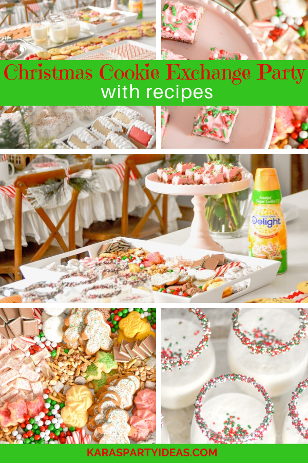 Christmas Cookie Exchange Party with Recipes via Kara's Party Ideas - KarasPartyIdeas.com