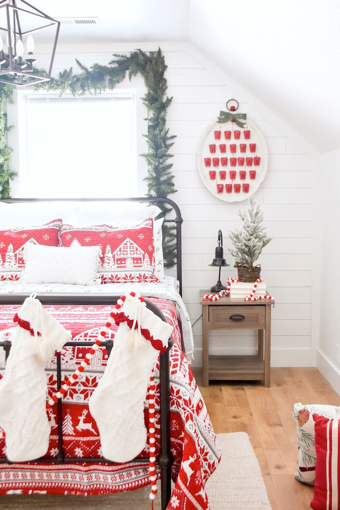 Christmas Holiday Bedroom Makeover Guest Room by Kara's Party Ideas for JCPenney-1