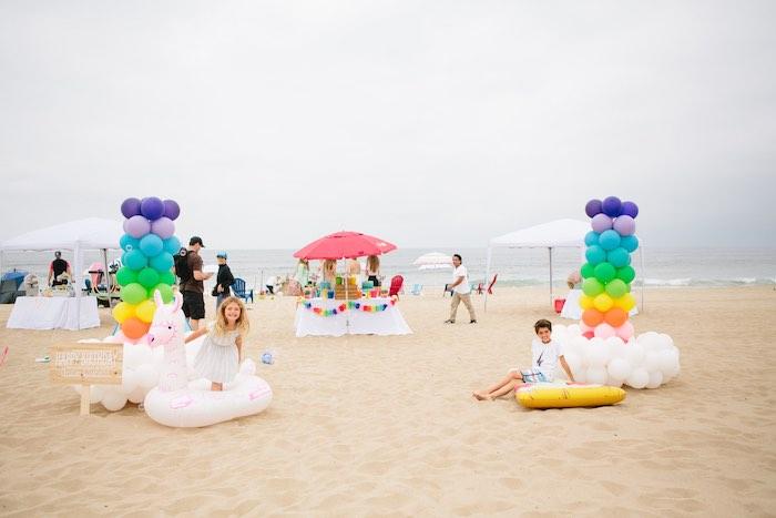 Colorful Seaside Birthday Party on Kara's Party Ideas | KarasPartyIdeas.com (22)
