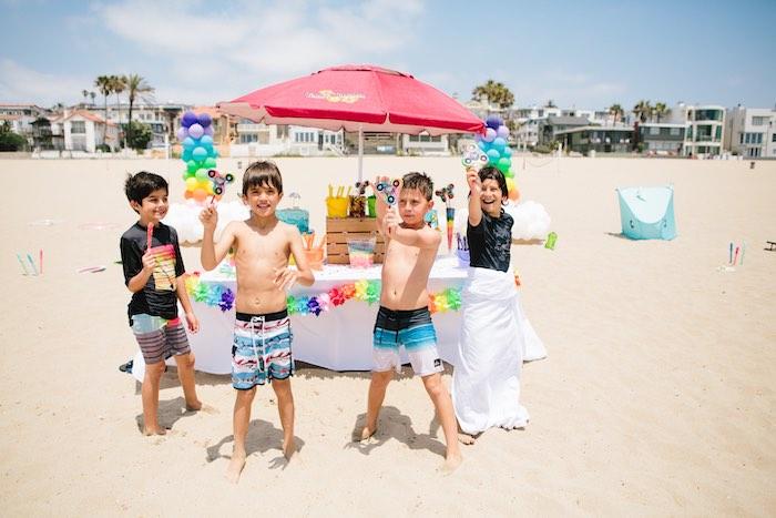 Colorful Seaside Birthday Party on Kara's Party Ideas | KarasPartyIdeas.com (12)