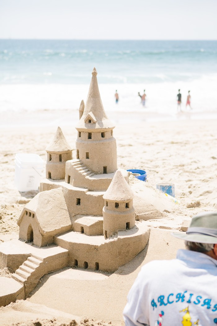 Sand Castle from a Colorful Seaside Birthday Party on Kara's Party Ideas | KarasPartyIdeas.com (10)