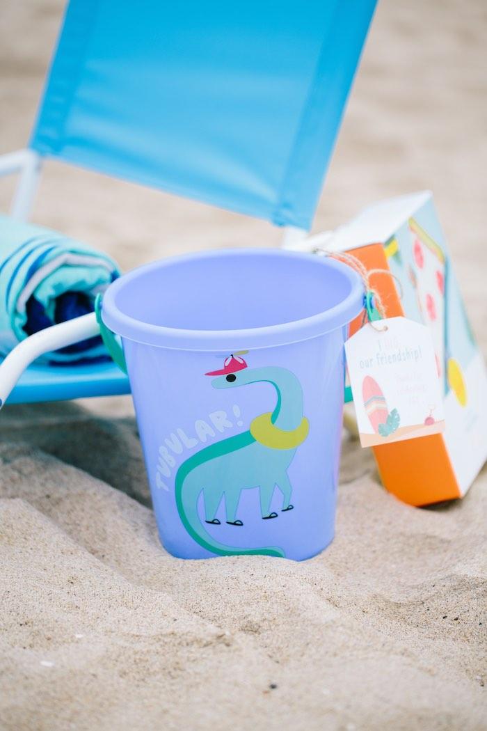 Beach Bucket from a Colorful Seaside Birthday Party on Kara's Party Ideas | KarasPartyIdeas.com (32)
