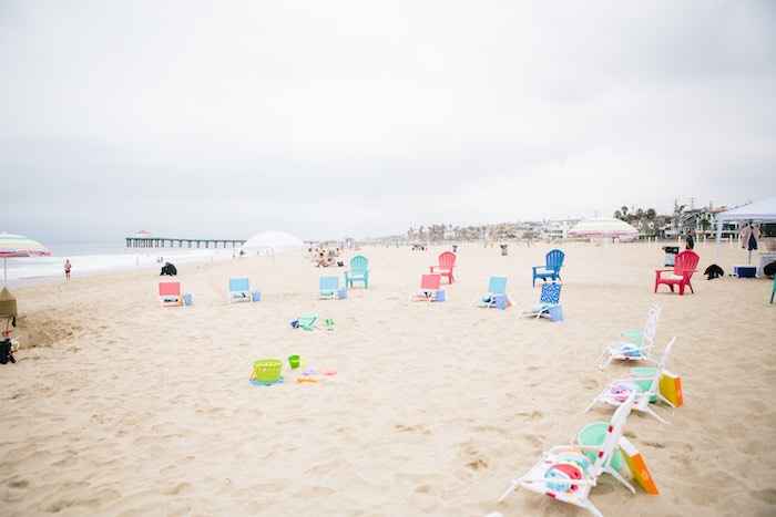 Beach Chairs from a Colorful Seaside Birthday Party on Kara's Party Ideas | KarasPartyIdeas.com (31)