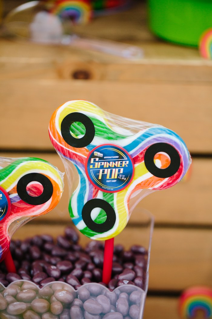 Spinner Lollipop from a Colorful Seaside Birthday Party on Kara's Party Ideas | KarasPartyIdeas.com (29)