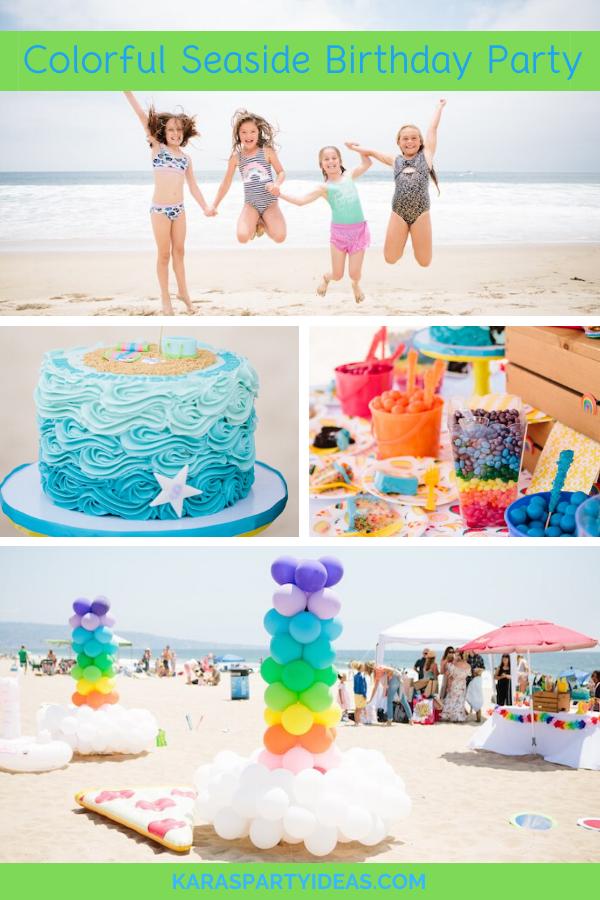 Colorful Seaside Birthday Party via KarasPartyIdeas - KarasPartyIdeas.com
