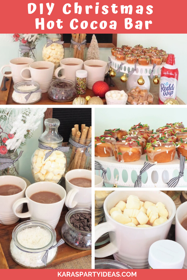 DIY Christmas Hot Cocoa Bar via Kara's Party Ideas - KarasPartyIdeas.com