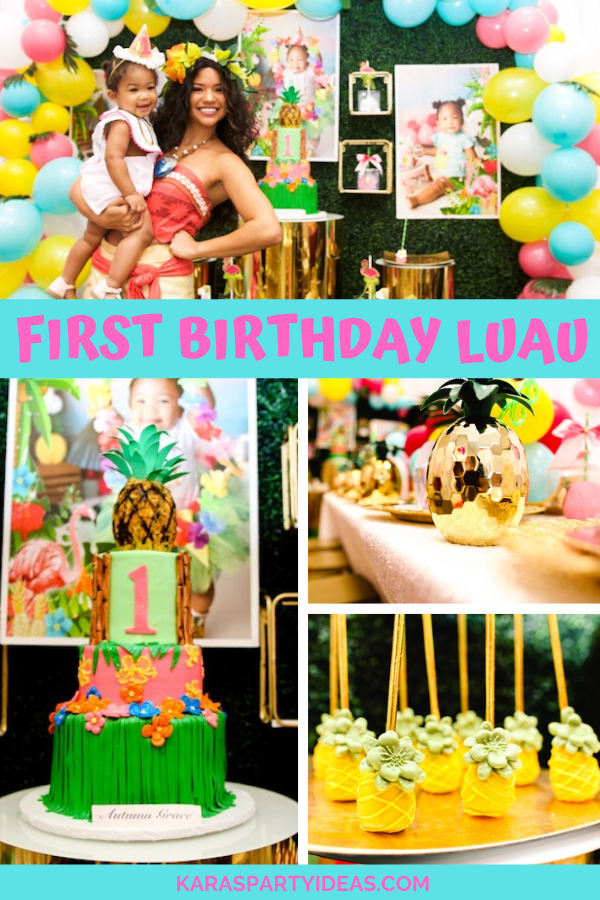 First Birthday Luau via Kara's Party Ideas - KarasPartyIdeas.com
