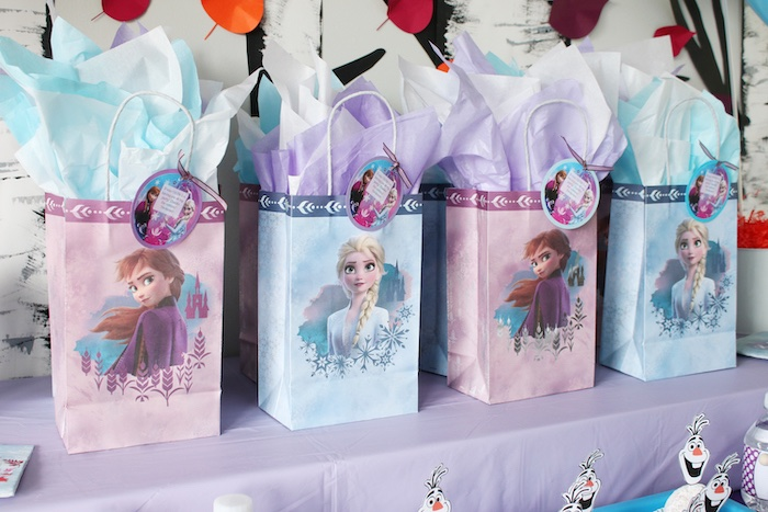 Anna + Else Gift Bags from a Frozen 2 Birthday Party with DIY Backdrop on Kara's Party Ideas | KarasPartyIdeas.com (17)