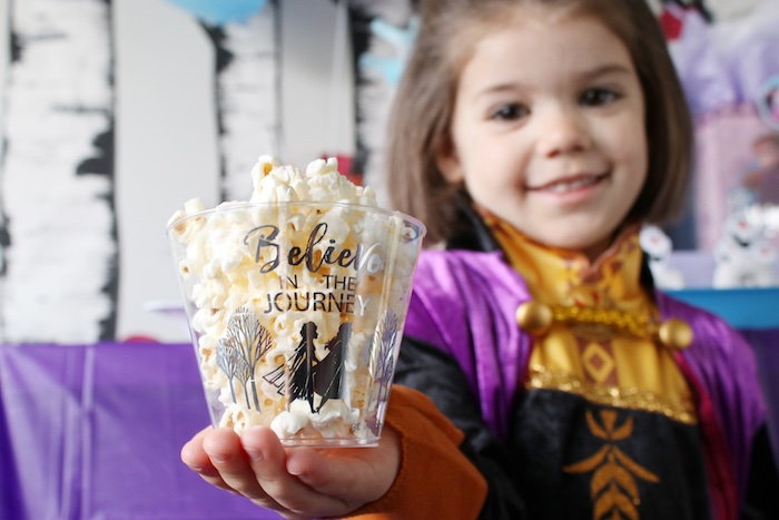 Popcorn Cups from a Frozen 2 Birthday Party with DIY Backdrop on Kara's Party Ideas | KarasPartyIdeas.com (8)