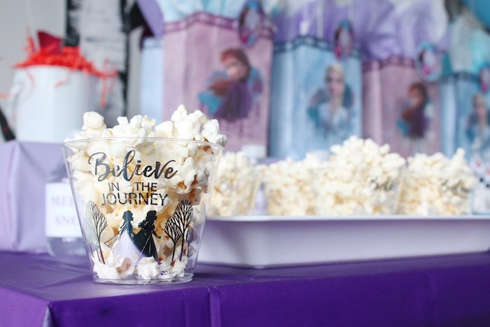 Popcorn Cups from a Frozen 2 Birthday Party with DIY Backdrop on Kara's Party Ideas | KarasPartyIdeas.com (7)