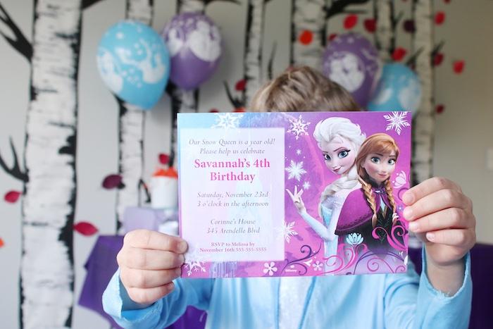Frozen 2 Party Invite from a Frozen 2 Birthday Party with DIY Backdrop on Kara's Party Ideas | KarasPartyIdeas.com (6)