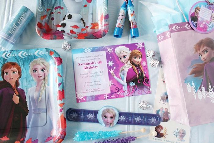 Frozen Party Invite from a Frozen 2 Birthday Party with DIY Backdrop on Kara's Party Ideas | KarasPartyIdeas.com (37)
