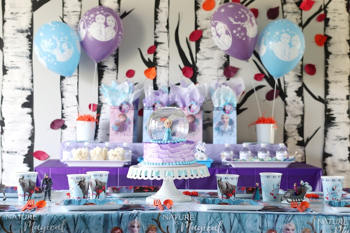 Frozen Themed Party + Guest Table from a Frozen 2 Birthday Party with DIY Backdrop on Kara's Party Ideas | KarasPartyIdeas.com (34)