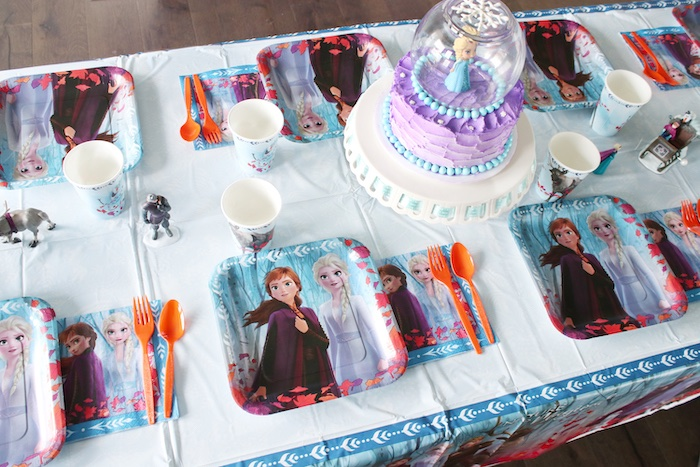 Frozen Themed Party + Guest Table from a Frozen 2 Birthday Party with DIY Backdrop on Kara's Party Ideas | KarasPartyIdeas.com (31)