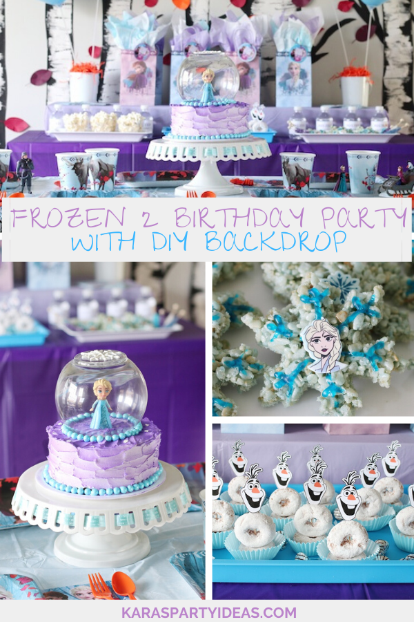 Fine Karas Party Ideas Frozen 2 Birthday Party With Diy Backdrop Personalised Birthday Cards Paralily Jamesorg