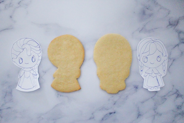 Frozen - Elsa and Anna Cookie Tutorial on Kara's Party Ideas | KarasPartyIdeas.com