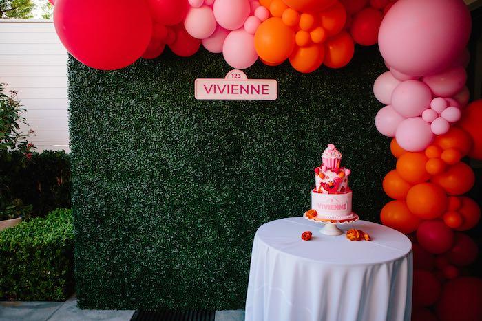 Elmo-inspired Cake Table from a Girly Elmo Birthday Party on Kara's Party Ideas   KarasPartyIdeas.com (14)