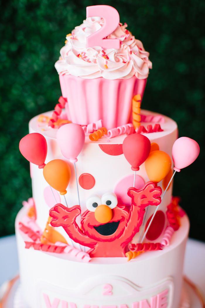 Awesome Karas Party Ideas Girly Elmo Birthday Party Karas Party Ideas Personalised Birthday Cards Veneteletsinfo
