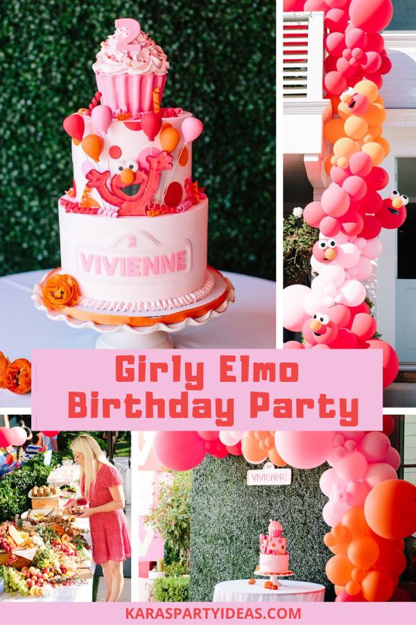 Admirable Karas Party Ideas Girly Elmo Birthday Party Karas Party Ideas Personalised Birthday Cards Paralily Jamesorg