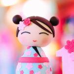 Japanese Cherry Blossoms & Kokeshi Dolls Birthday Party on Kara's Party Ideas | KarasPartyIdeas.com (1)