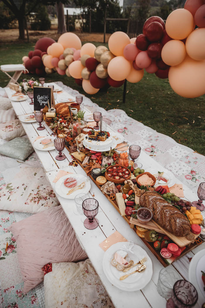 Gorgeous Guest / Grazing Table from a Lavish Baby Sprinkle on Kara's Party Ideas | KarasPartyIdeas.com (21)