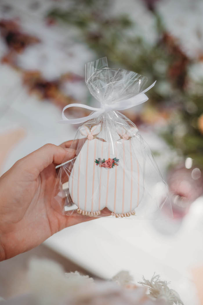 Baby Romper Cookie Favor from a Lavish Baby Sprinkle on Kara's Party Ideas | KarasPartyIdeas.com (39)