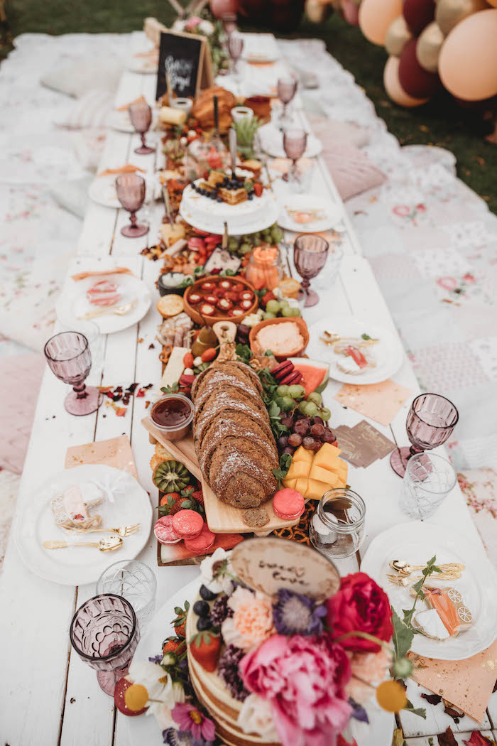Grazing Table from a Lavish Baby Sprinkle on Kara's Party Ideas | KarasPartyIdeas.com (20)