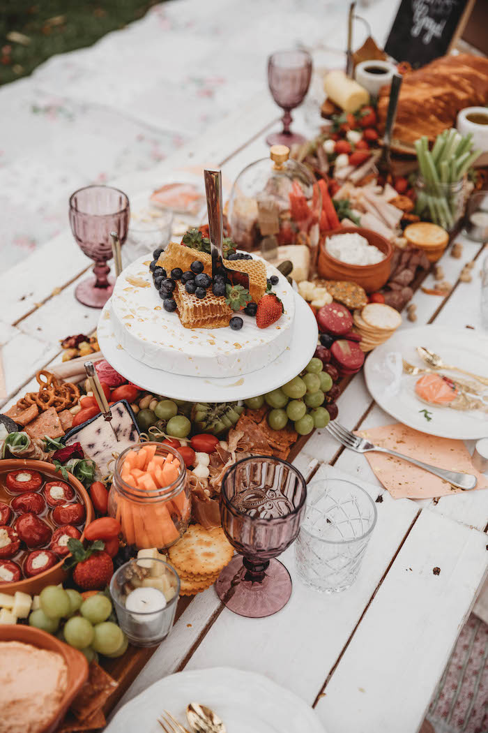 Grazing Table from a Lavish Baby Sprinkle on Kara's Party Ideas | KarasPartyIdeas.com (18)