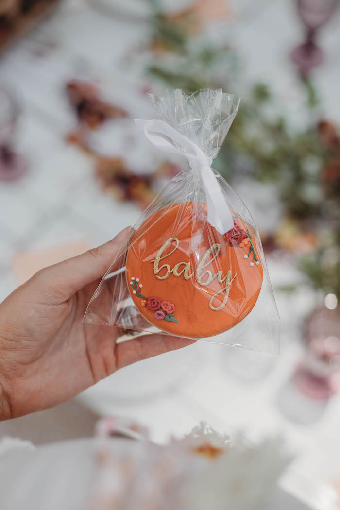"""baby"" - Cookie Favor from a Lavish Baby Sprinkle on Kara's Party Ideas 