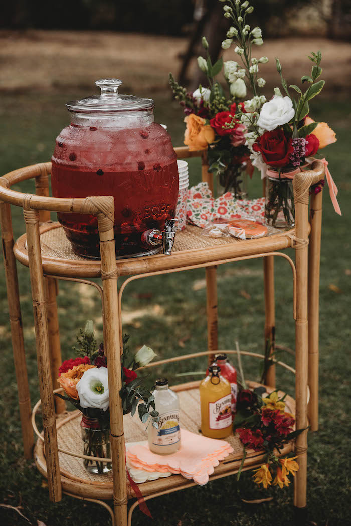 Cane Drink Stand from a Lavish Baby Sprinkle on Kara's Party Ideas | KarasPartyIdeas.com (8)