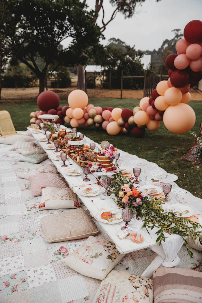 Grazing Guest Table from a Lavish Baby Sprinkle on Kara's Party Ideas | KarasPartyIdeas.com (7)